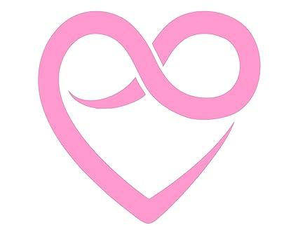Amazon Heart With Infinity Symbol 6 X 5 12 Pink Vinyl