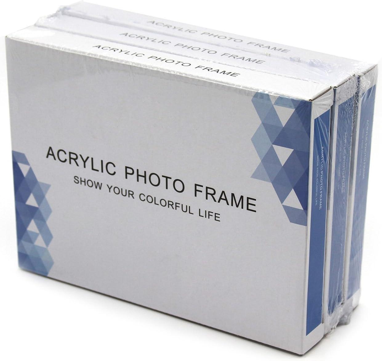 Lot de 5 Cadres Photos 9 x 13 cm Lot de 5 Boxalls Cadre Photo 9 x 13 cm Acrylique Transparent Profil de Cadre 2 cm !