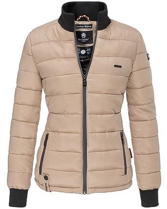696ab7907b13 Marikoo Sportliche Damen Übergangsjacke mit Kragen - Gefüttert und Gesteppt   Amazon.de  Bekleidung