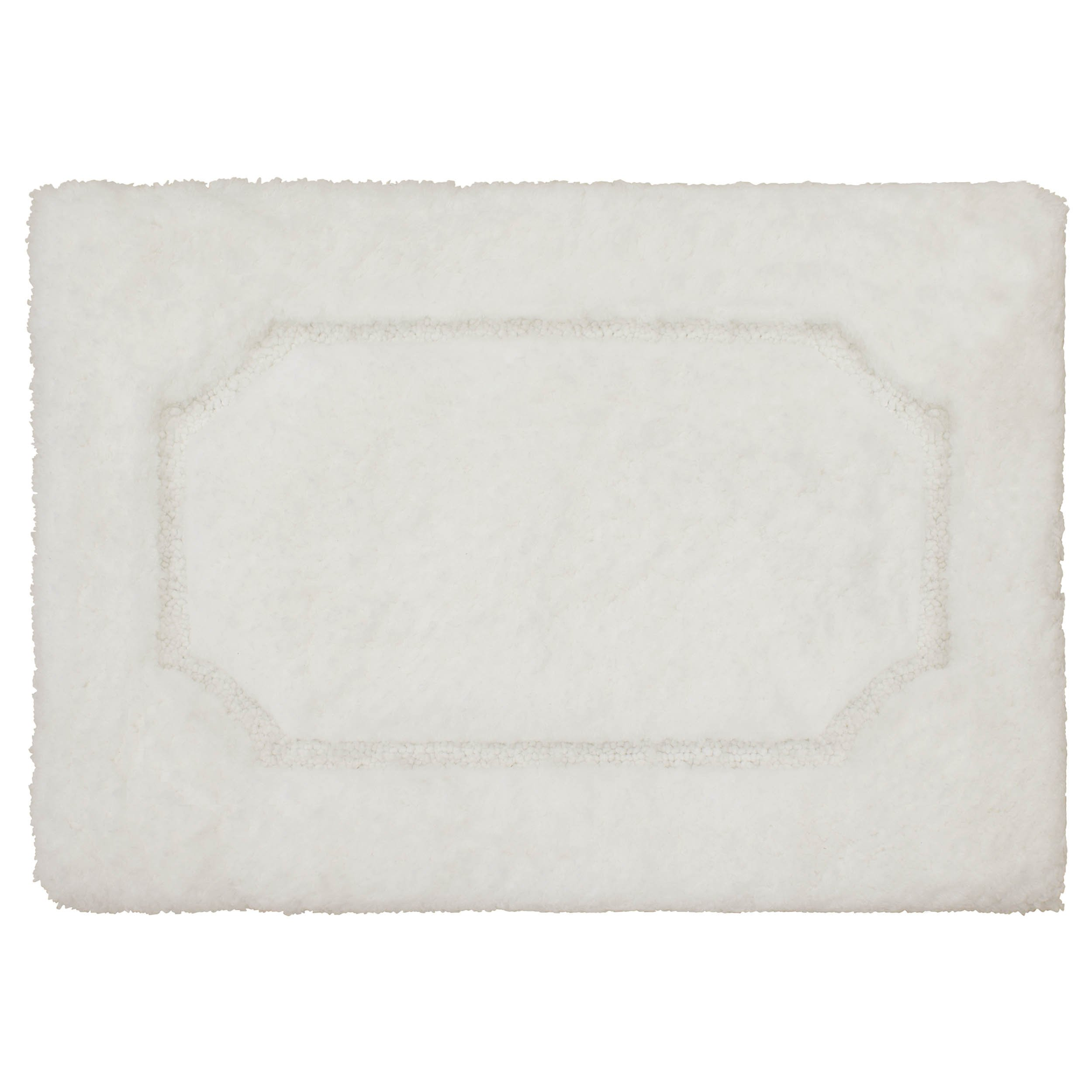 Vista Living Blossom Premium Super Plush 20'' x 32'' Bath Rug, White