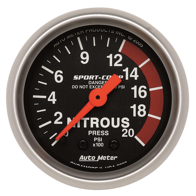 Auto Meter 3328 Sport-Comp Mechanical Nitrous Pressure Gauge