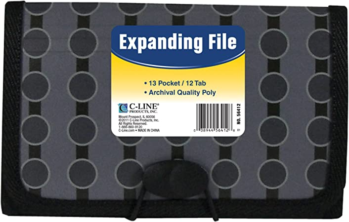 Expand Document File Accordion Organizer 13 Pocket School Coupon Holder Folder