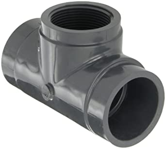 Schedule 80 3 NPT Male x Socket 3 NPT Male x Socket GF Piping Systems PVC Pipe Fitting Gray Adapter