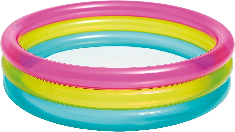 Intex 57104 - Piscina, Color Rosa, Amarillo y Azul