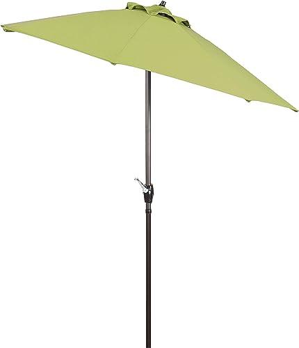 Shade Basics 7.5 Rd Crank Lift Auto Tilt Aluminum Patio Umbrella, Bronze Finish, Kiwi