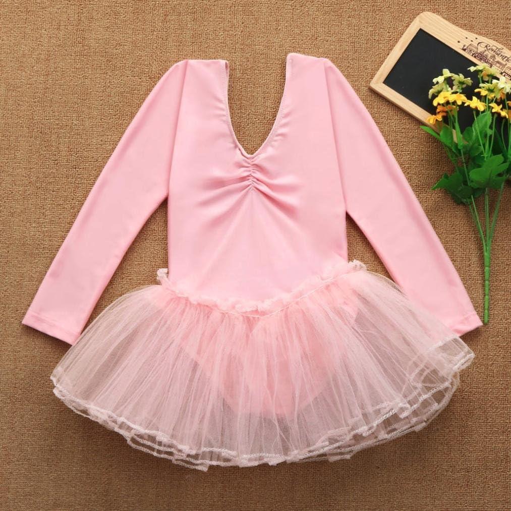 Siviki Toddler Girls Gauze Leotards Tops Bodysuit Dancewear Dress Clothes Girls Outfits