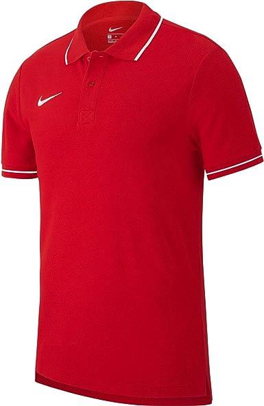 Nike Team Club 19 Polo Polo, Uomo, University RedWhite, 3XL