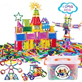 Juboury 1054Pcs Building Toy Building Blocks Bars Different Shape Educational Construction Engineering Set 3D Puzzle…