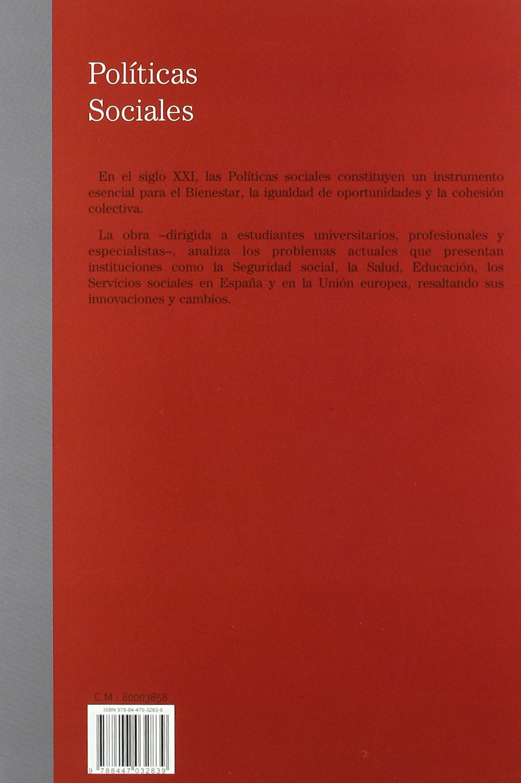 Políticas Sociales (Tratados y Manuales de Economía): Amazon.es: Carmen Alemán Bracho: Libros