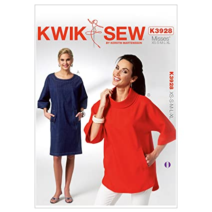 Amazon Kwik Sew K3928 Misses Dolman Sleeve Dress And Top Sewing