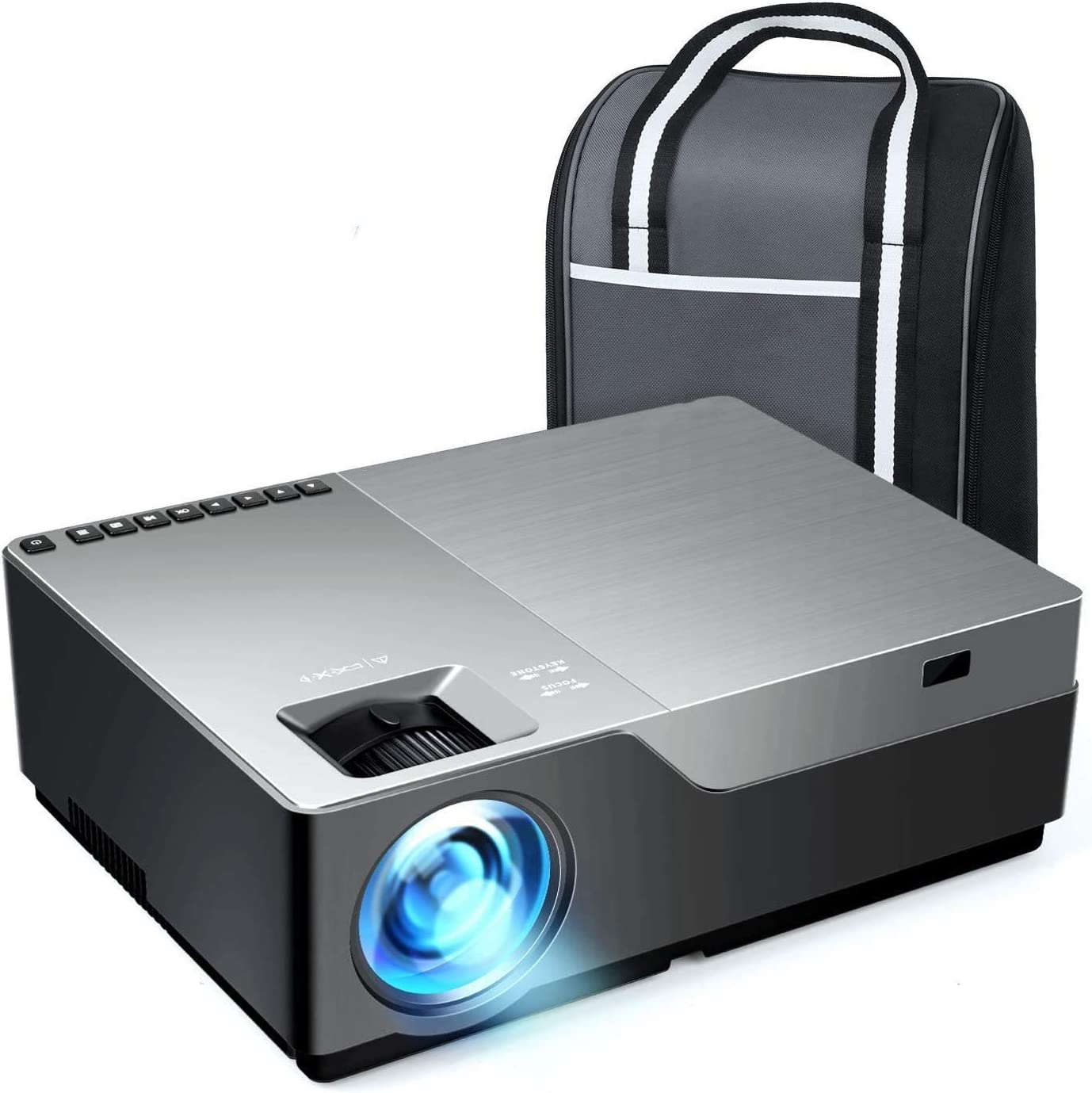 Video Projector SWT-19 Home Theater Video Projector Compatible with TV Stick, PS4, HDMI, TF, AV, USB for Home Entertainment