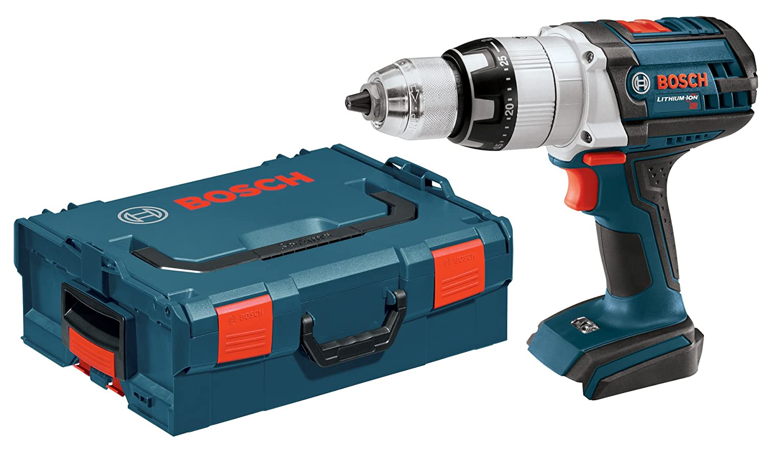 Bosch Bare-Tool HDH181BL 18-Volt Lithium-Ion 1 2-Inch Brute Tough Hammer Drill Driver with L-BOXX-2 and Exact-Fit Tool Insert Tray