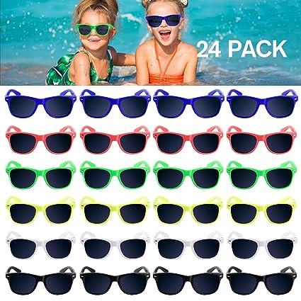 Amazon.com: Gafas de sol para niños, paquete de 24 gafas de ...
