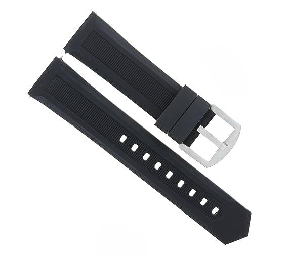 Correa para correa de goma de 20 mm para Tag HEUER F1 WAH1111, color negro: Amazon.es: Relojes