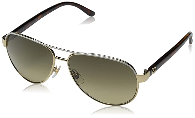 c0a467596e12a Image Unavailable. Image not available for. Colour  Gucci Women s 4239 S  Metal Aviator Sunglasses ...