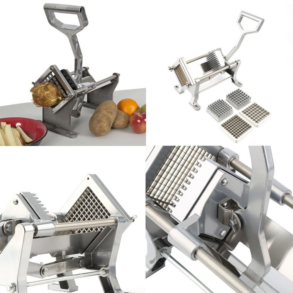 Potato French Fry Fruit Vegetable Cutter Slicer Commercial Quality 3 Blades USA