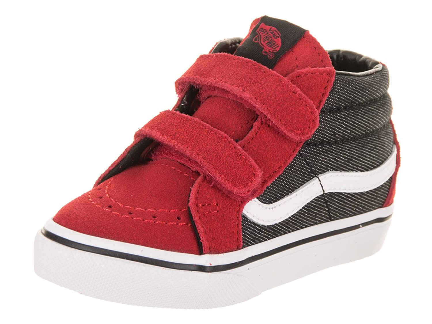 2d629ae2b6 Vans Toddler Sk8-Mid Reissue V VN0A348JQ6W (Suede Suiting) Racing Red