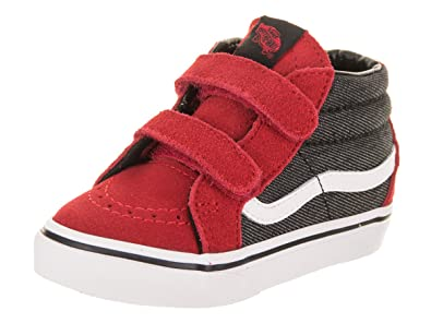 Vans Toddler Sk8-Mid Reissue V VN0A348JQ6W (Suede Suiting) Racing Red  d46b4ef02