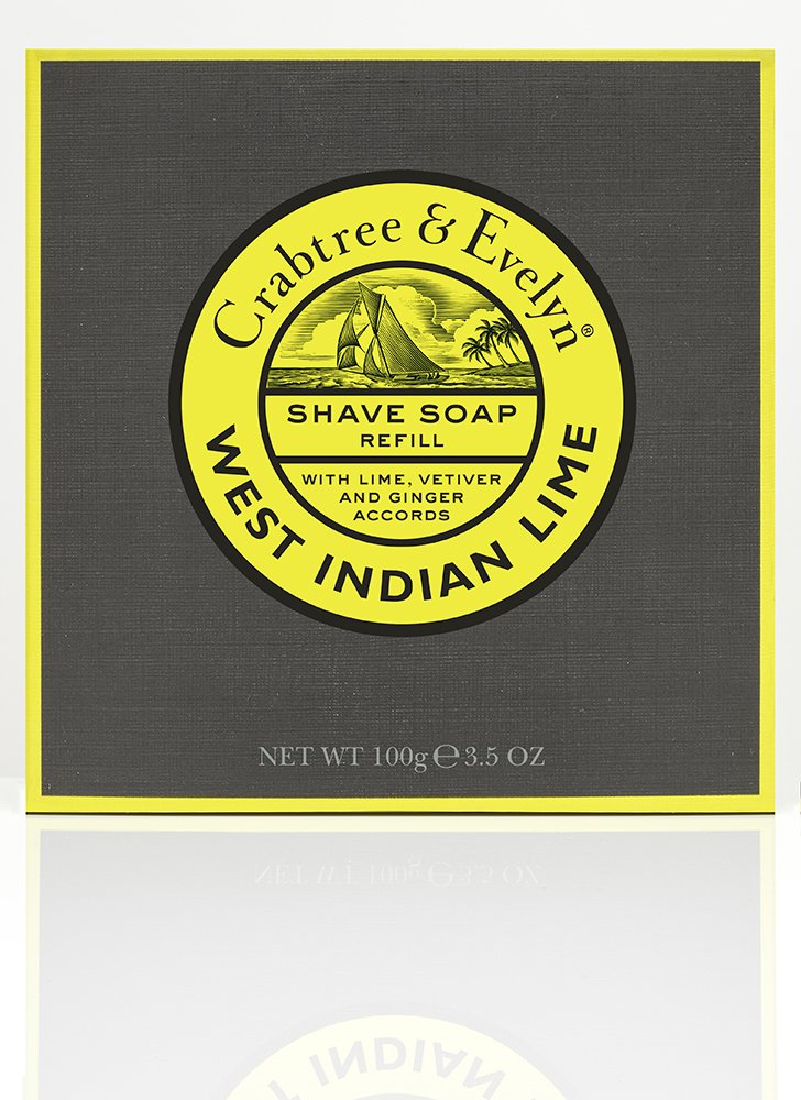 West Indian Lime Shave Soap Refill 100g Crabtree and Evelyn 79965