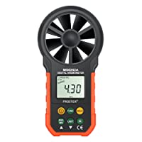 Digital Anemometer MS6252A LCD Backlit Wind Meter Air Volume Meter Wind Gauge with Multifunction Buttons for Windsurfing Kite Flying Sailing Surfing Fishing etc