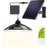 Intelamp Solar Pendant Lights Solar Shed Lights by Remote Control Solar Powered Indoor & Outdoor Lights Hanging Lights…