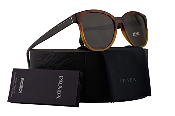 5bfc458bfc Amazon.com  Prada PR08US Sunglasses Havana Gradient Yellow w Dark ...