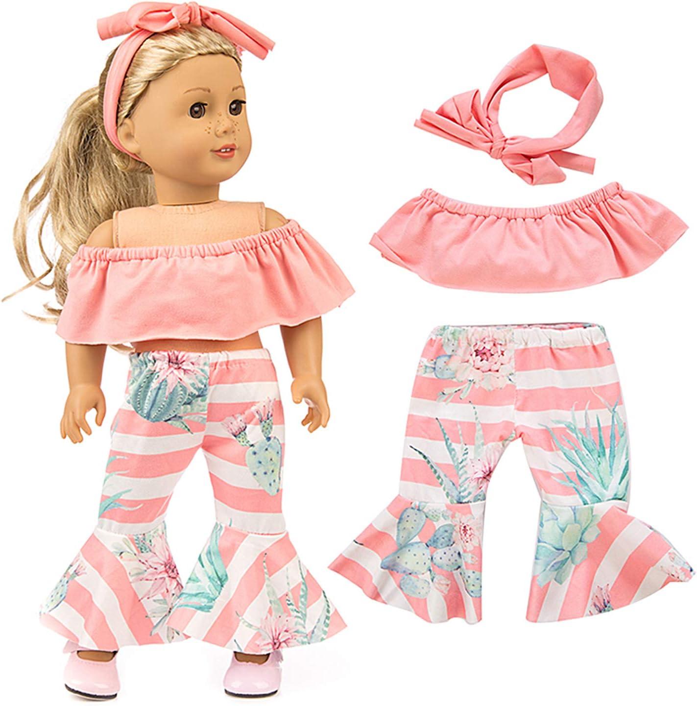 Cute Girl Zebra Print 2pcs Pajamas Fits American Girl Doll 18 inch doll clothes