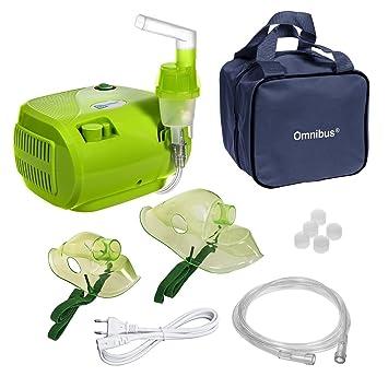 Omnibus BR-CN116 - Nuevo inhalador compresor Nebulizador Inhalador compacto para nebulizador inhaladores bebe electrico, Verde: Amazon.es: Hogar