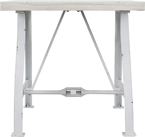 Southern Enterprises Jacinto End Table, white