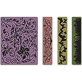Sizzix 657491 Pack de 4 Dossiers Planches à Gaufrer Bordure et Décor Printanier de Tim Holtz 13 x 18,5 x 2,2 cm