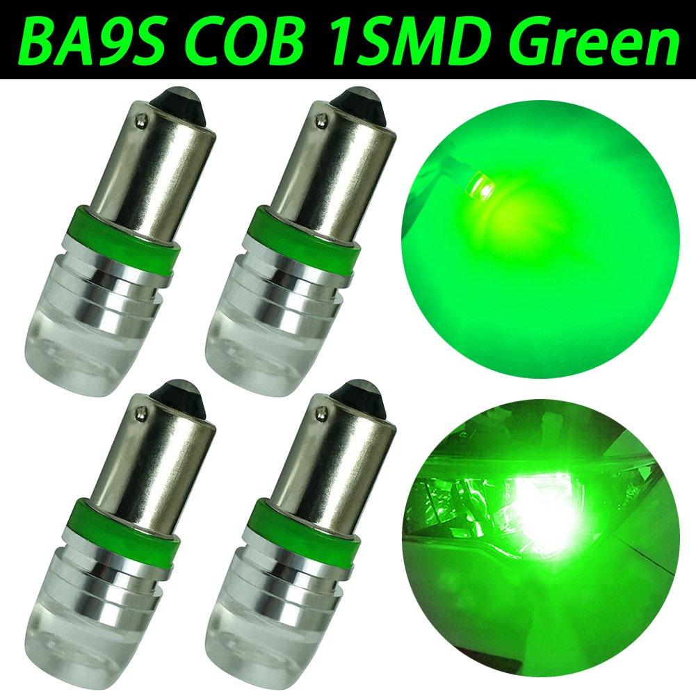 taben verde BA9S 53/53/x 57/LED bombilla Interior Iluminaci/ón Coche tronco c/úpula lateral el/éctrica luz 12/V Pack de 4/unidades