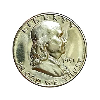 1959 Franklin half dollar Gem 90/% Silver Proof