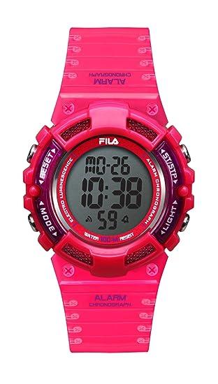 Fila unisex de pulsera reloj digital cuarzo 38 - 097 - 003 filactive Rojo, Rosa, plástico: Amazon.es: Relojes