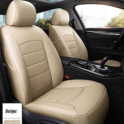 AutoDecorun 16PCS/Set Genuine Leather U0026 Leatherette Custom Fit Seat Cover  Set For Mazda 6