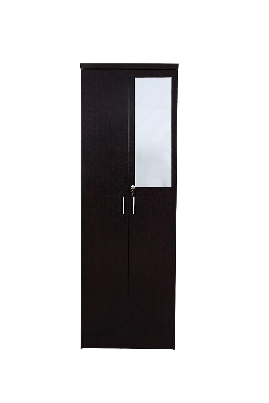 Best Cove 2-Door Wardrobe Matte Finish with Mirror