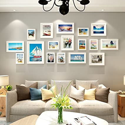 Good Wall Photo Solid Wood Frame Modern Living Room Large Size Photo Frame Wall Decoration Hanging Wall Combination With Pictures Set Of 17 Collage Frames The Harvest Season Color L Amazon Co Uk Kitchen