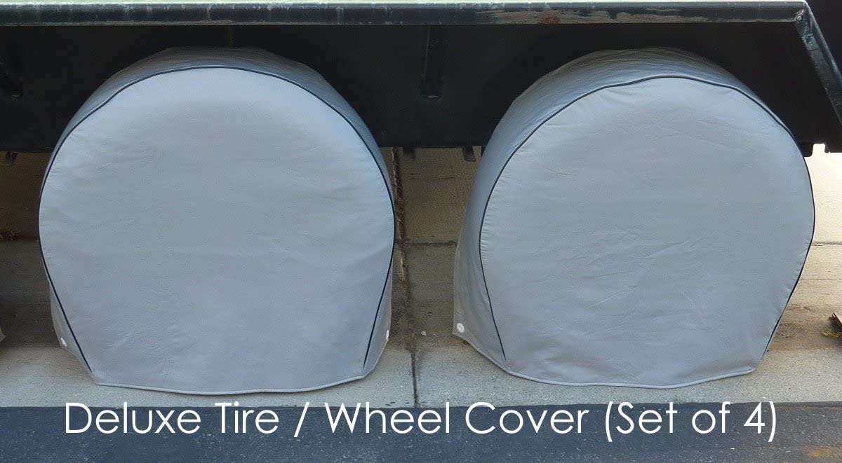 """Deluxe tire/Wheel Covers fits tire 36.5""""- 41"""" Dia. for RV's, Travel Trailers, Toy Haulers, 5th Wheel Trailers, Truck, Van, SUV (Set of 4)"""