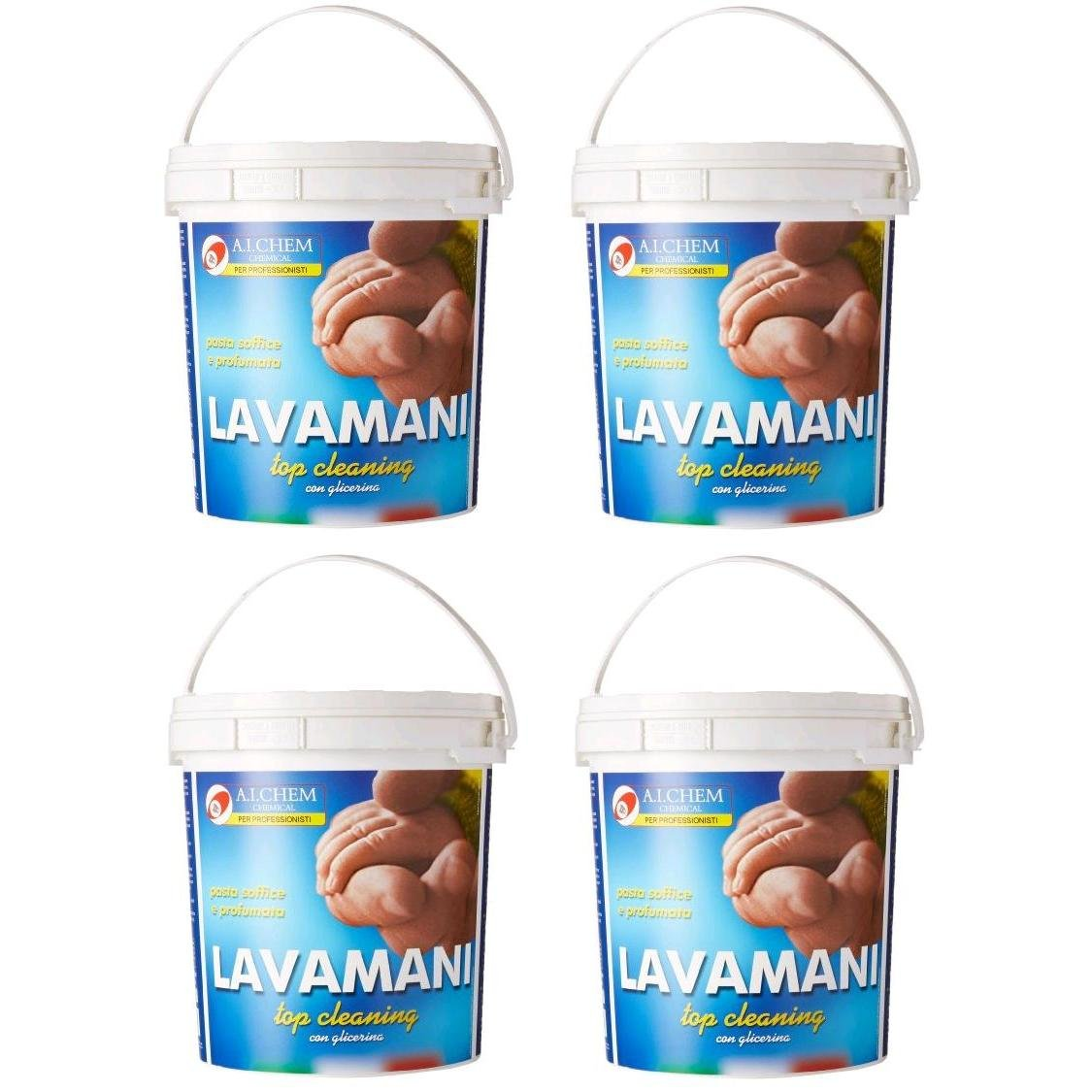 Pasta Lavamani 4000ml Hand Cleaner Paste Made in Italy 4 PACK