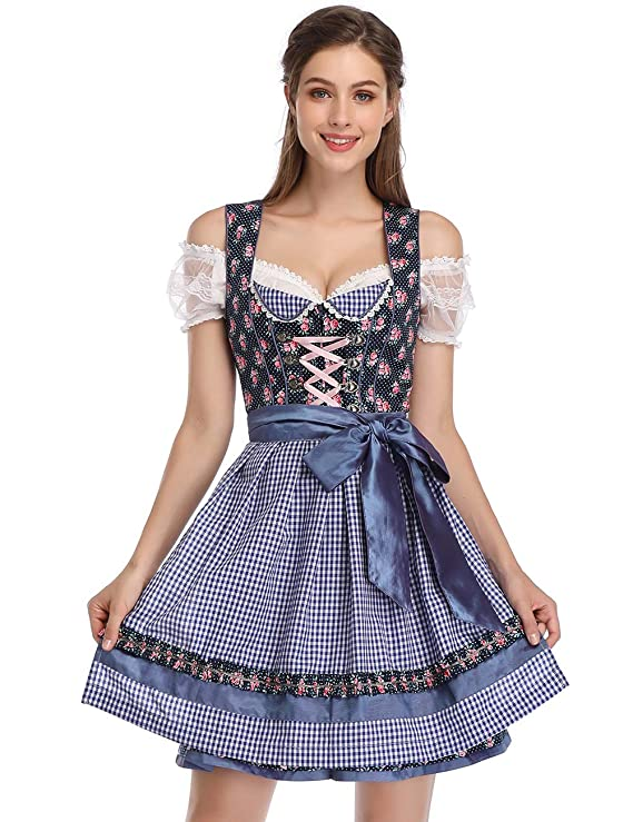 GloryStar Women's German Dirndl Dress Costumes for Bavarian