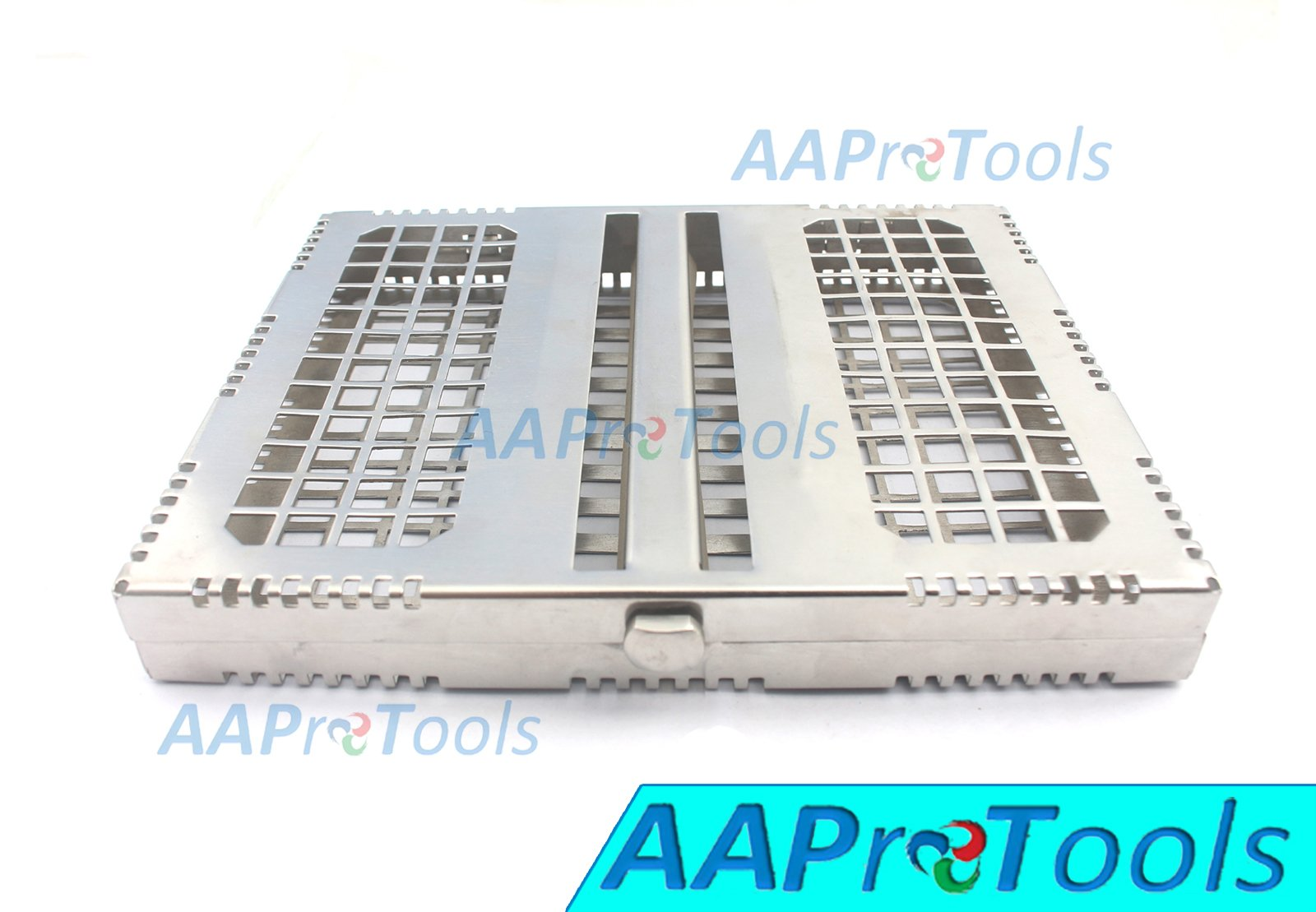 AAPROTOOLS DENTAL STERILIZATION CASSETTE RACK TRAY DISINFECTION BOX FOR 10PCS INSTRUMENTS A+ QUALITY