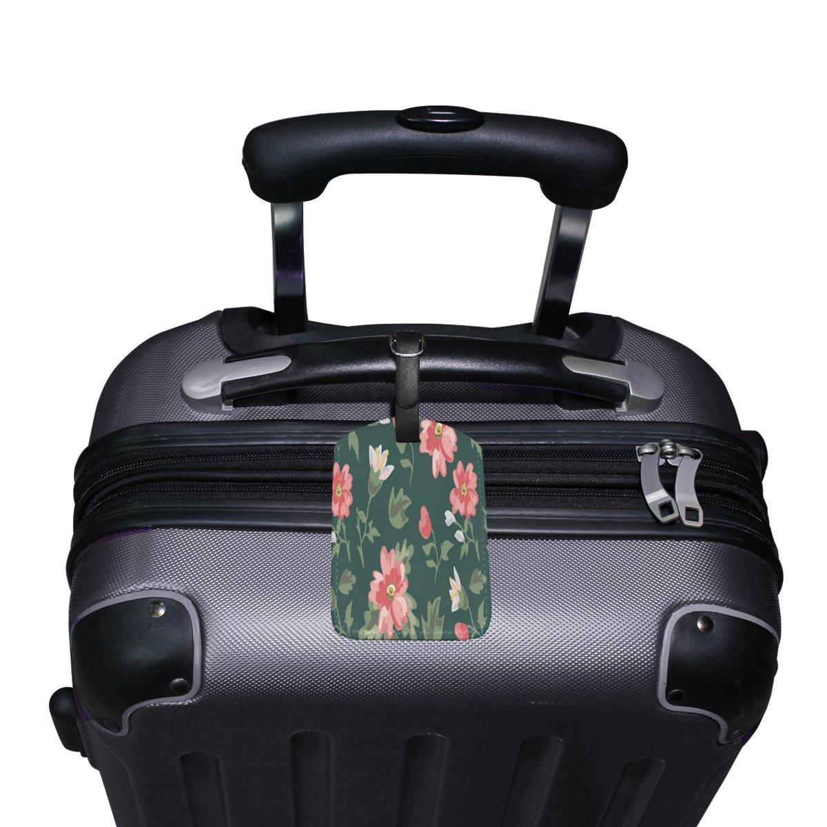 Saobao Travel Luggage Tag European Floral PU Leather Baggage Travel ID