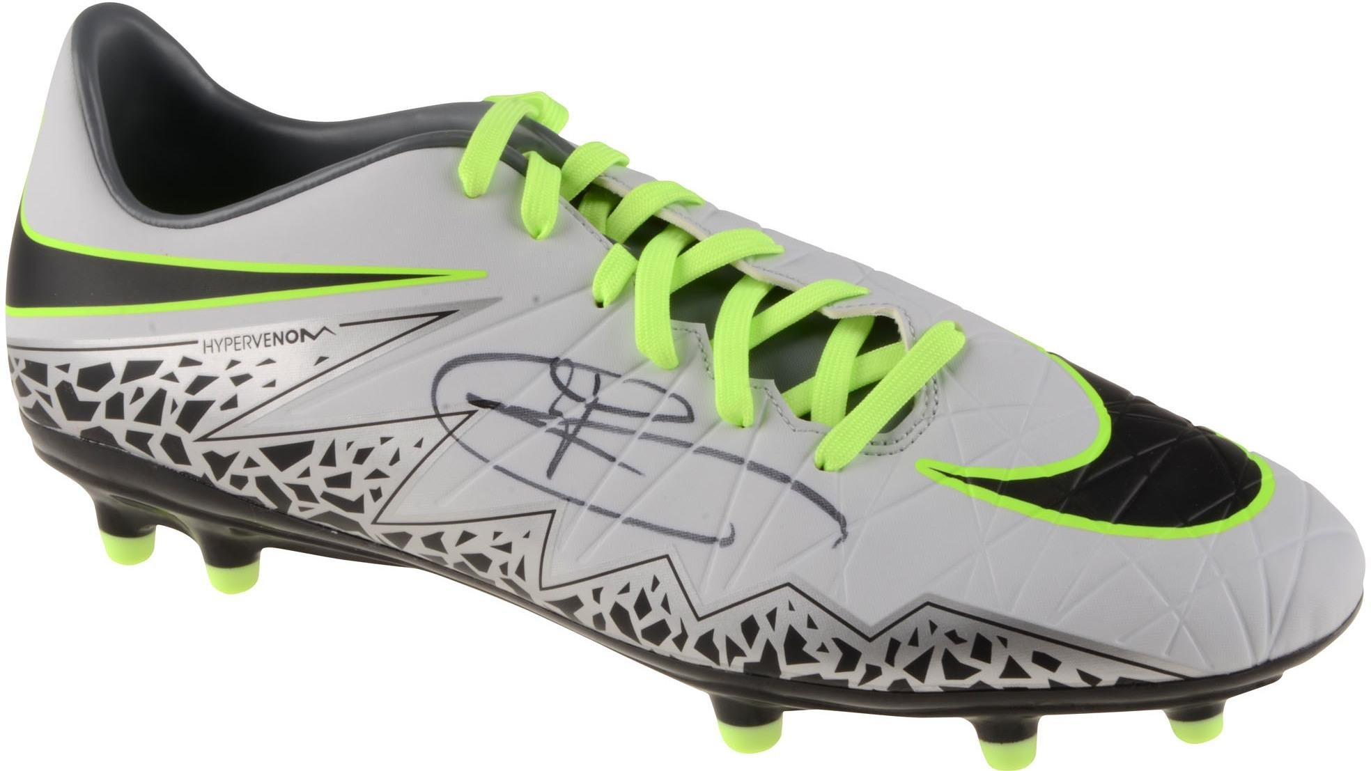 Harry Kane England Autographed Gray and Green Hypervenom Cleat ICONS Fanatics Authentic Certified