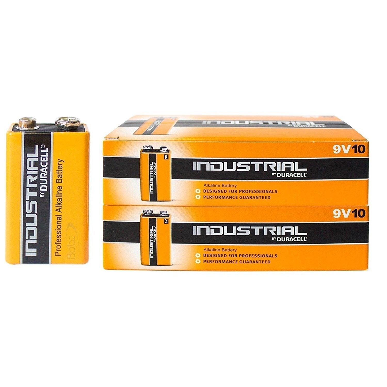 Duracell Plus MN1604 Baterías Alcalinas – 9 V/6LR61/E-Block – 10 Piezas