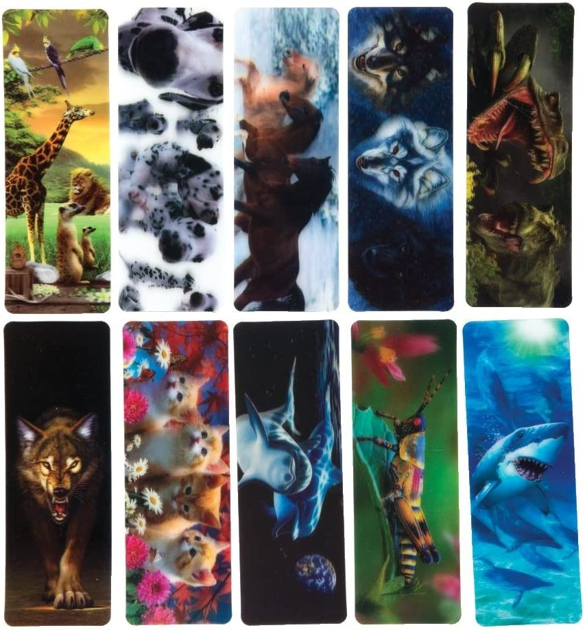 Flip 10176 JELLYFISH 3 D Lenticular Bookmark with amazing moving effect 5,8 x 2,0 inches by Edition Colibri