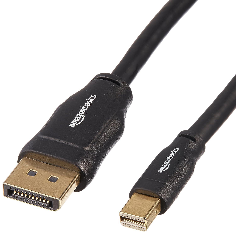 AmazonBasics Mini DisplayPort to DisplayPort Cable - 10 Feet