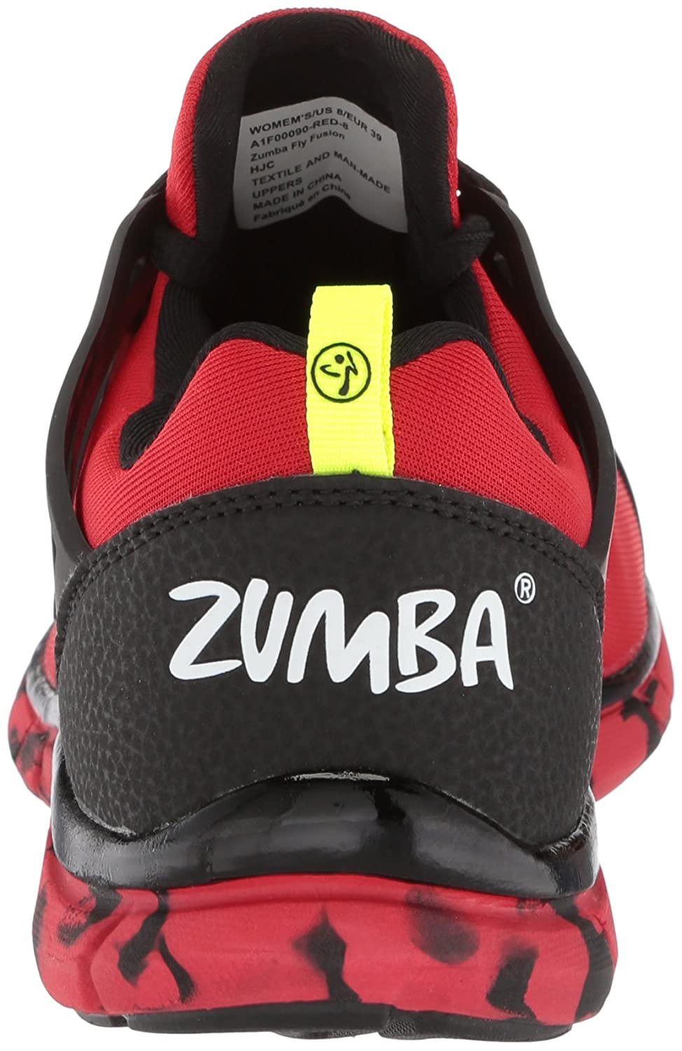 Zumba Women's Fly Fusion Athletic Dance Workout Sneakers with Compression Cushioning B078WDVHVG 7.5 B(M) US|Red