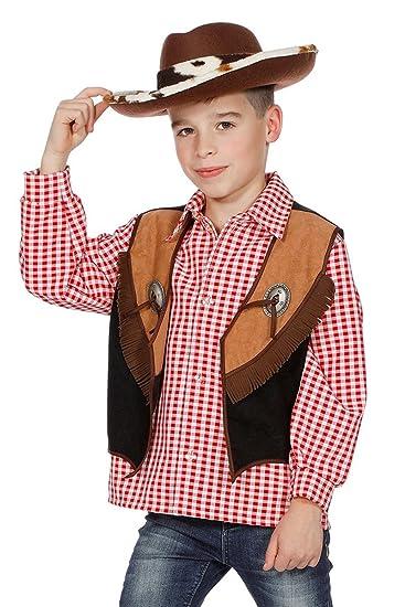 Cowboyweste Cowboy Weste Zum Kostum Braun Fransen Wilder Westen