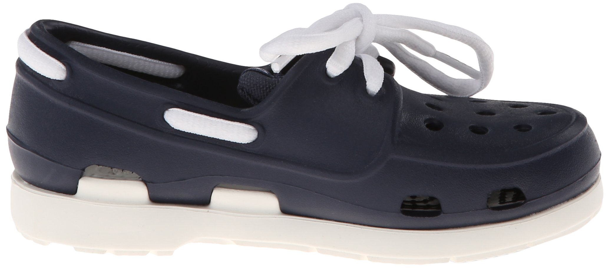 crocs Beach Line Lace PS Boat Shoe (Toddler/Little Kid),Navy/White,10 M US Toddler by Crocs (Image #6)
