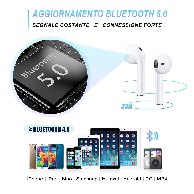 Auricular Bluetooth 5.0 Auricular Bluetooth Verdadero Deporte inal/ámbrico Auricular Bluetooth Est/éreo inal/ámbrico Auriculares inal/ámbricos con Caja de Carga port/átil Compatible con iOS Android