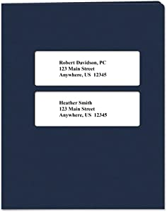 Tax Return Software Folders Centered Double Windows with Pocket – 50 Pack